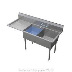 Duke 242S-136-L Sink, (2) Two Compartment