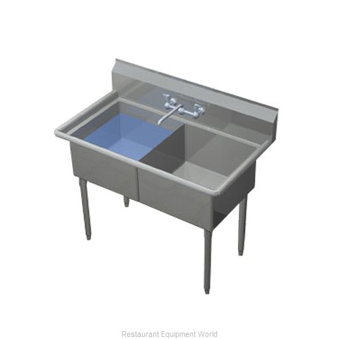 Duke 242S-NDB Sink, (2) Two Compartment (Magnified)
