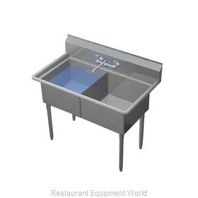 Duke 242S-NDB Sink, (2) Two Compartment