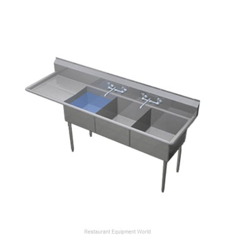 Duke 243-136-L Sink, (3) Three Compartment