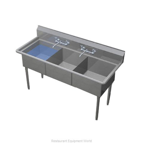 Duke 243S-NDB Sink, (3) Three Compartment