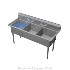 Duke 243S-NDB Sink 3 Three Compartment