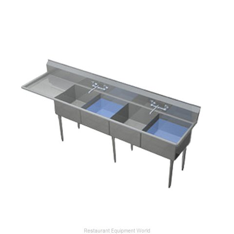 Duke 244S-136-L Sink 4 Four Compartment (Magnified)