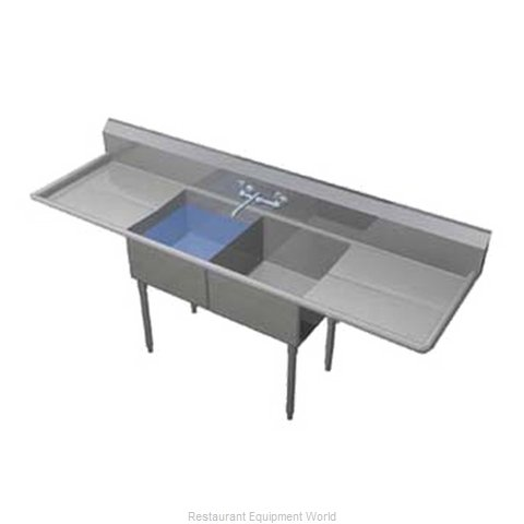 Duke 272S-224 Sink 2 Two Compartment