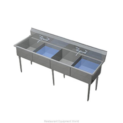 Duke 274-NDB Sink 4 Four Compartment (Magnified)