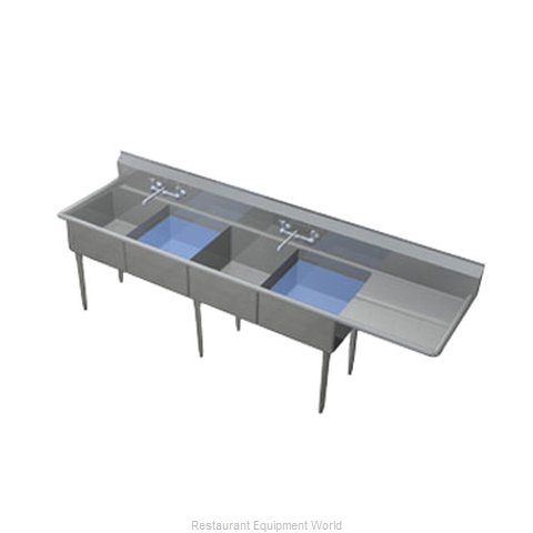 Duke 274S-136-R Sink, (4) Four Compartment