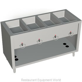 Duke 304-25SS Serving Counter Hot Food Steam Table Gas
