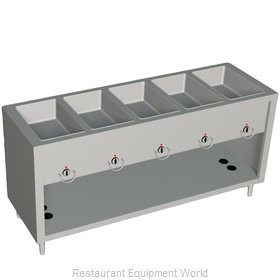 Duke 305-25SS Serving Counter Hot Food Steam Table Gas