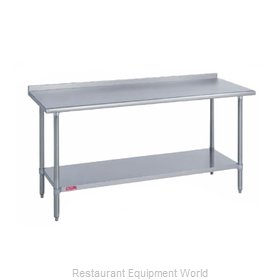 Duke 314-2472-2R Work Table 72 Long Stainless steel Top