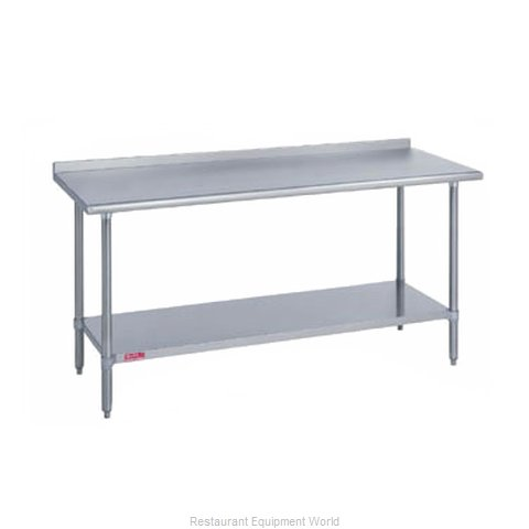 Duke 316-2472-2R Work Table 72 Long Stainless steel Top (Magnified)