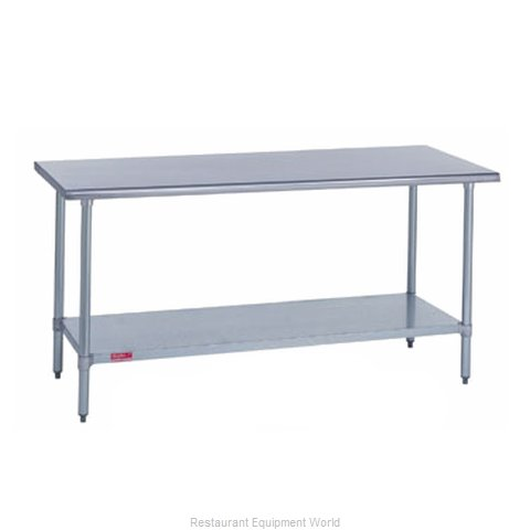 Duke 316-3672 Work Table 72 Long Stainless steel Top (Magnified)
