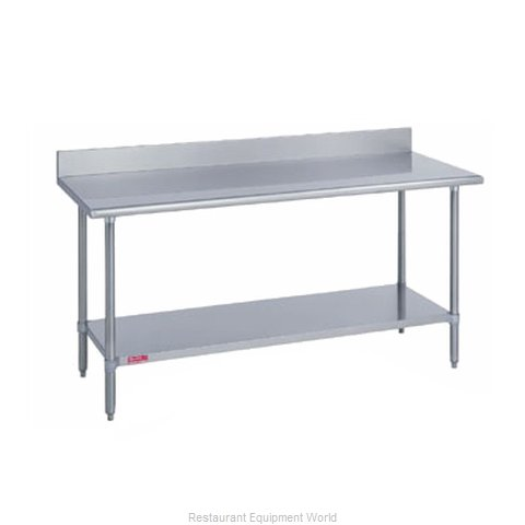 Duke 316S-2472-5R Work Table 72 Long Stainless steel Top (Magnified)