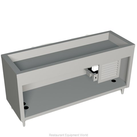 Duke 327-25SS Serving Counter Cold Pan Salad Buffet (Magnified)