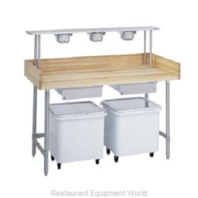 Duke 336 Work Table, Bakers Top
