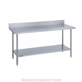Duke 416S-2472-5R Work Table 72 Long Stainless steel Top