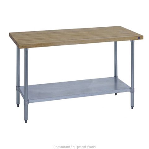 Duke 7121A-3684 Work Table, Wood Top