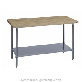 Duke 7122A-3696 Work Table, Wood Top