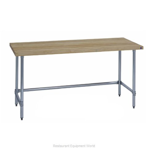 Duke 7124-3684 Work Table, Wood Top