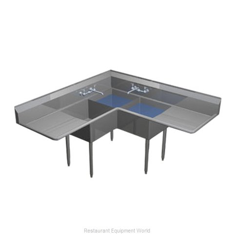 Duke CS1E2F24 Sink, (3) Three Compartment