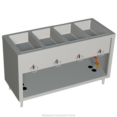 Duke E304-25SS Serving Counter Hot Food Steam Table Electric