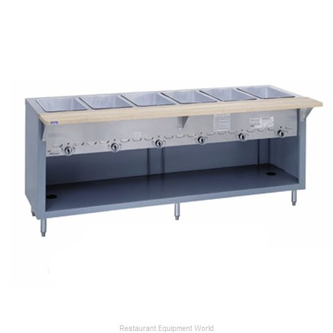 Duke G-4-CBSS Serving Counter Hot Food Steam Table Gas