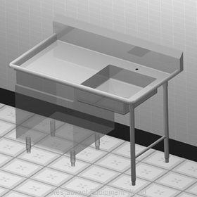 Duke UCD-48R Dishtable, Soiled, Undercounter