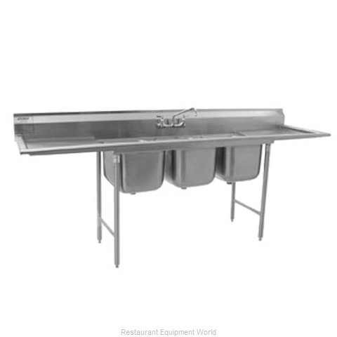 Eagle 314-24-3-24L Sink 3 Three Compartment (Magnified)