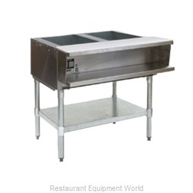 Eagle AWT2-NG-2X Serving Counter Hot Food Steam Table Gas