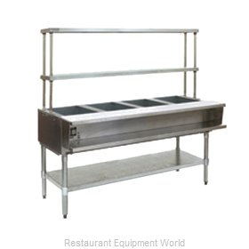Eagle AWT4-NG-FM-X Serving Counter Hot Food Steam Table Gas