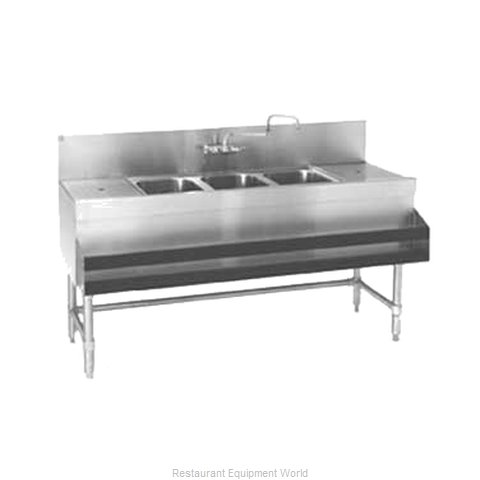 Eagle B8-3-LR-24 Underbar Sink Units (Magnified)