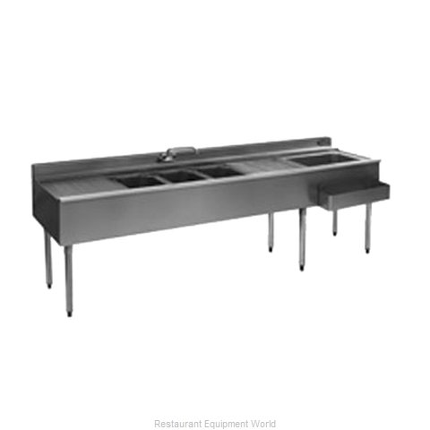 Eagle BC7C-22R Underbar Ice Bin Cocktail Sink Combo Unit