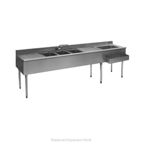 Eagle BC9C-18R Underbar Ice Bin Cocktail Sink Combo Unit