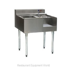 Eagle BM50-22R Underbar Ice Bin/Cocktail Station, Blender Station