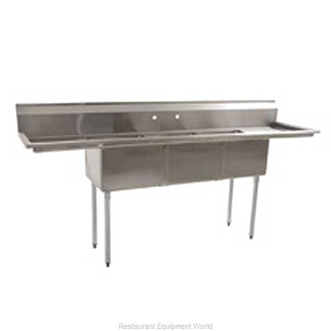 Eagle BPS-1854-3-FE-X Sink, (3) Three Compartment