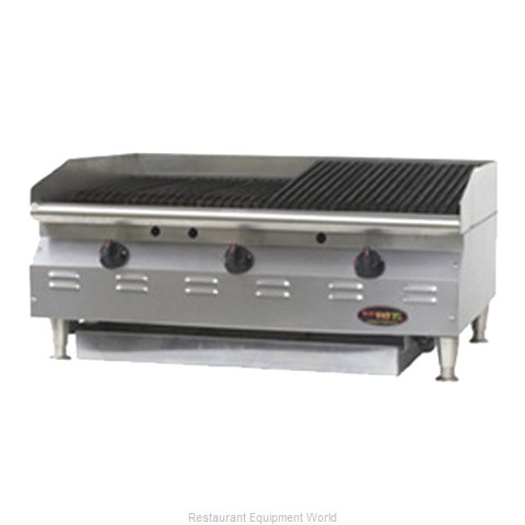 Eagle CLCHRB-48-NG-X Charbroiler, Gas, Countertop (Magnified)