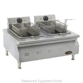 Eagle CLEF102-240 Fryer, Electric, Countertop, Split Pot