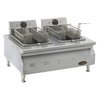 Eagle CLEF102-240 Fryer, Electric, Countertop, Split Pot