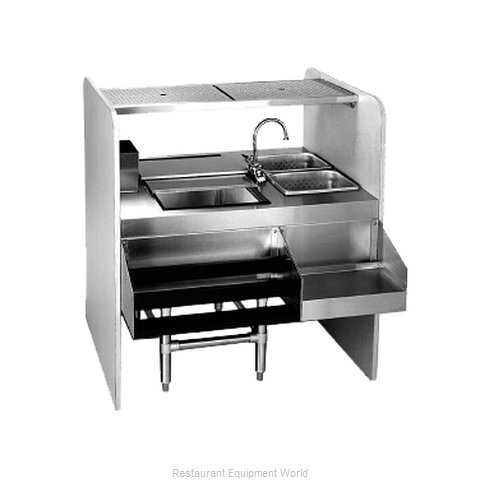 Eagle CS42-32L Underbar Ice Bin/Cocktail Station, Pass-Thru Combo