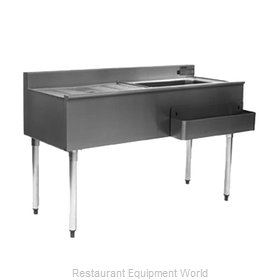 Eagle CWS4-18L Underbar Ice Bin/Cocktail Station, Drainboard