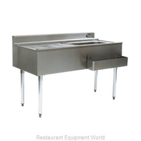 Eagle CWS4-22L Underbar Ice Bin/Cocktail Station, Drainboard