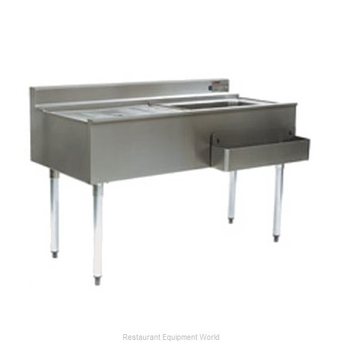 Eagle CWS4-22R-7 Underbar Ice Bin/Cocktail Station, Drainboard (Magnified)
