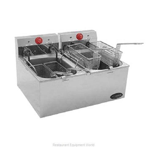 Eagle EF102-240-X Fryer, Electric, Countertop, Split Pot