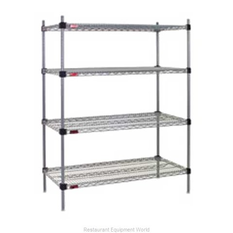 Eagle F2QA2-74-2436V-X Shelving Unit, Wire (Magnified)