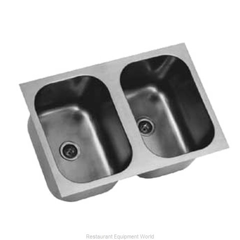 Eagle FDI-16-19-8-2 Sink Bowl, Weld-In / Undermount (Magnified)