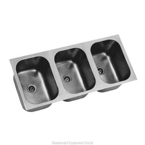 Eagle FDI-16-19-8-3 Sink Bowl, Weld-In / Undermount (Magnified)