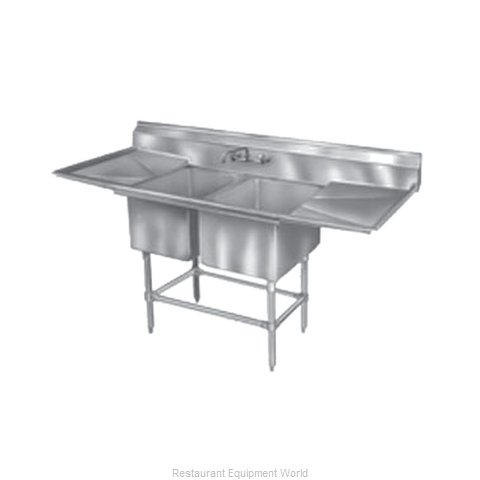Eagle FN2040-2-30R14/3 Sink, (2) Two Compartment