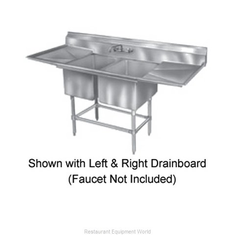 Eagle FN2448-2-18R14/3 Sink 2 Two Compartment