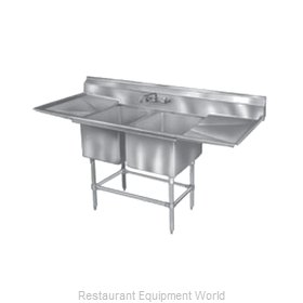Eagle FN2448-2-24L-14/3 Sink, (2) Two Compartment