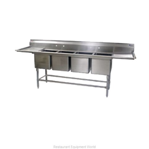 Eagle FN2496-4-24R-14/3 Sink, (4) Four Compartment