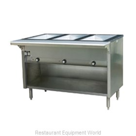 Eagle HT3OB-LP Serving Counter Hot Food Steam Table Gas